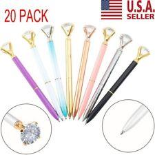 20pcs crystal diamond pen bling bling metal ballpoint pen Best Gift NEW