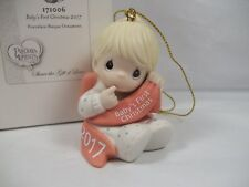 Precious Moments Ornament 2017 Baby's First Christmas Boy