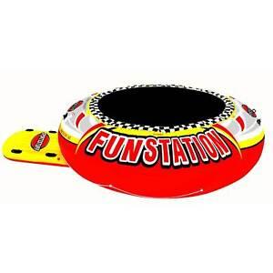 Sportsstuff Funstation 10' PVC Inflatable Water Trampoline Kids Jump Bouncer