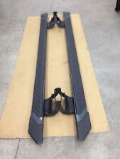 "2015-2019 Ford F150 5"" wide Crew Cab OEM gray running boards side step bars"