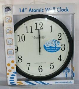 """La Crosse Technology 14"""" Atomic Analog Wall Clock NIB"""