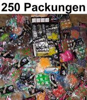 250 Pack LOOM LOOMS LOOPs LOOP Armband Restposten Wurfmaterial Flohmarkt Posten