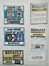 ecusson patch renault sport coupe national elf gordini rallye europa cup alpine