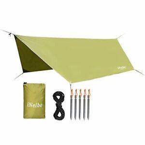 iNeibo Hammock Rain Fly Tent Tarp 4 x3m Lightweight Waterproof Hex Camping Tarp,