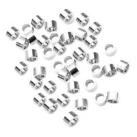 32//48pcs Tibetan Gold//Silver 8*11mm 3 Holes Crafts Spacer Beads Charm Connector