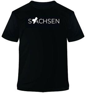 T-Shirt schwarz Aufdruck Sachsen T-Shirt XS S M L XL XXL neu