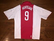 Men's XL adidas CLIMACOOL 2006-07 AJAX Amsterdam Home Huntelaar #9 Soccer Jersey