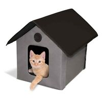K&H Outdoor HEATED Kitty House Cat Bed Waterproof w/ Heated Pad KH1070 3 Colors
