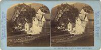 Ospedale Butte Del Tesoro Acque-Buono Foto Lamy Stereo Vintage Albumina Ca 1870
