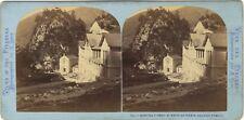 Hopital Butte du Trésor Eaux-Bonnes Photo Lamy Stereo Vintage Albumine ca 1870