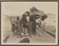Nubia Egipto Grupo De Aborigen Etnografía Foto n1 Vintage Analógica c1900