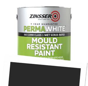 Perma-White Interior Matt Mould Resistant WB Tintable Paint RAL 9017 1L