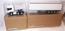 Cararama 1:50 Scania R Topline Cab & 3 Axle Curtainside Trailer White New in Box