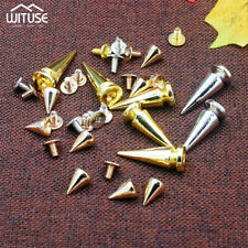 alloy cone rivet bullet studs diy screw spikes for diy bag shoes 10mm/26mm 397A