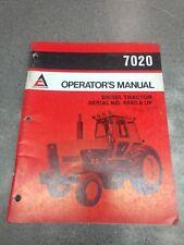 ALLIS CHALMES 7020 OPERATOR'S MANUAL 70261879