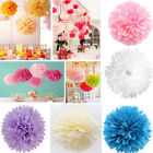 "10/20 Pcs 4"" Tissue Paper Pom Poms Wedding Ball-Flower Engagement Nursery Decor"