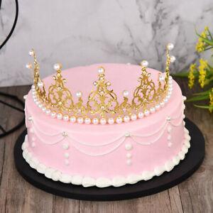Crown Tiara Cake Topper Baking Decor DIY Cake Princess Birthday Crown Decoration