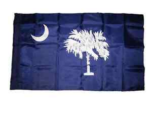2.5 x 4 ft Embroidered Sewn South Carolina State Nylon Flag 2.5' x 4' Sleeved