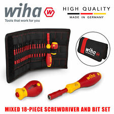 Wiha SlimVario Electricians Interchangeable VDE 18pcs Screwdriver Set 41231