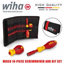 Wiha Slimvario Electricians Interchangeable Vde 18pcs Screwdriver Set 41231