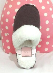 Victorias Secret Super Soft Faux Fur Knit Slippers Cozy Warm NWT M 7 - 8