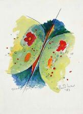 """ALBERTO BIASI - """"simmetria e farfalla"""" - opera unica 1983 - autentica su foto"""