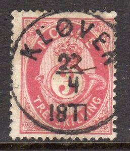 Norway 1871 3sk very fine used Kløven cancel