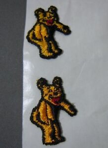"""Pair Mini Bear Alignment Embroidered Iron On Uniform-Jacket Patch 1"""""""