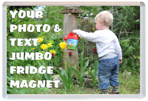 Custom Designed Photo Gift Jumbo Fridge Magnet 97 x 67 mm Personalised Magnets