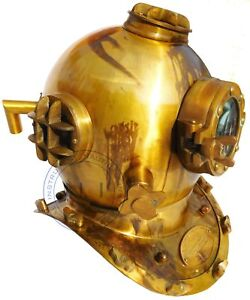 Nautical 18'' U.S Navy Diving Helmet Mark V Glass Vintage Home Decorative helmet
