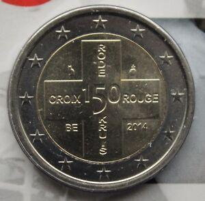 BELGIUM - 2 € Euro 2014 - Red Cross in Belgium 150 years UNCIRCULATED COIN