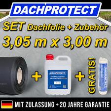 EPDM Dachfolie Set  Nr.03 305 x 300cm inkl. Kleber -> Carport Garage Gartenhaus