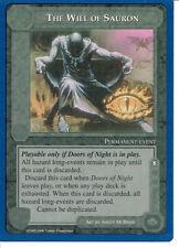 MIDDLE EARTH BLUE BORDER PREMIER RARE CARD THE WILL OF SAURON grade 9/10
