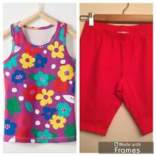 NWT HANNA ANDERSSON Play Active Purple Tank Top & Red Bike Shorts SET 150 12