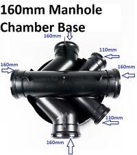 """450mm Manhole Chamber Base 160mm Underground Drainage Polydrain 6"""" Manhole Base"""
