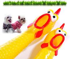 Neu 31CM Schreiendes Gummi-gelbes Huhn-Hundespielzeug-Quietschen Squeakers