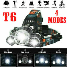 12000LM Rechargeable Head Torch Headlamp Light Lamp 3 x XML T6 LED Zoom