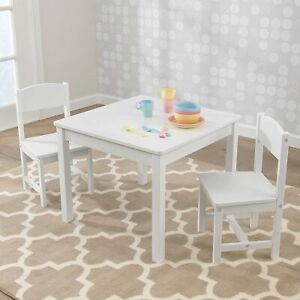 KidKraft Wood Wooden Aspen Table & 2 Chair Set  White Homeschooling Montessori