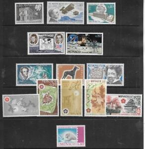 MONACO -  2 x Sets + 7 x Singles, MNH - 1970 Issues