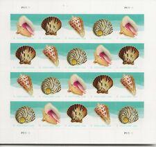 2017 Forever Postcard Shells full Sheet of 20 Scott #5163-5166, Mint NH