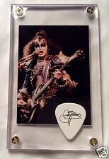 Look Nice KISS Gene Simmons Alive #72 card / official tour guitar pick display!