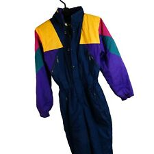 Vintage Retro Ski Suit All In 164 One Piece Kids 90'S