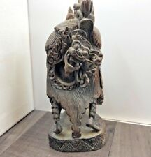AUTHENTIC ANTIQUE CARVED INDONESIAN BALI BARONG DANCE DRAGON ORNAMENT FIGURE
