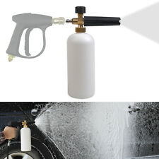 "1/4"" Adjustable Car Wash Gun Snow Foam Lance Car Washer Soap 1L Bottle Cannon"