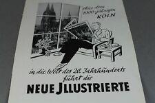 Neue Jllustrierte  + Perwoll - alte Reklame auf Papier aus den 1950er J.   /S128