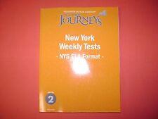 New York Journeys: New York Weekly Tests (NYS ELA Format) Grade 2