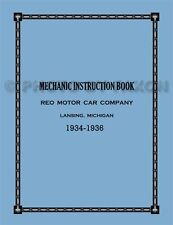 1934 1935 1936 Reo Flying Cloud Car Shop Manual Repair Service Book