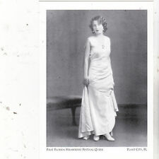 "~Post Card~""1st Florida Strawberry Festival Queen""-1930-*Plant City, FL.(A13-1"