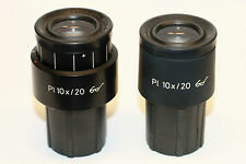 Pair of Zeiss Pl 10X/20 microscope ocular eyepiece, 30mm; great condition
