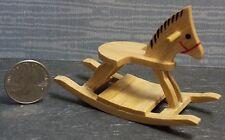 Dollhouse Miniature Oak Rocking Horse 1:12 one inch scale G62 Dollys Gallery